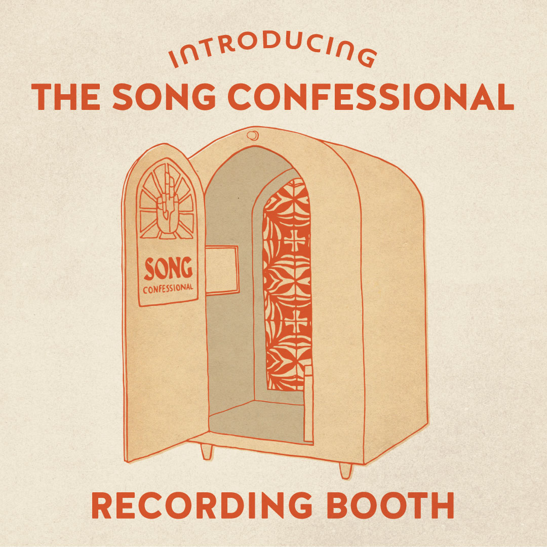 Poster for Song Confessional X Hotel Magdalena Present: An Artist Residency Program
